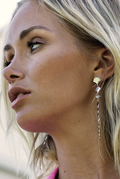 Les boucles d'oreille en perle Misaki